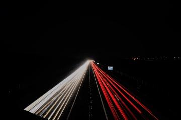 Lichtzieher auf der Autobahn A3 bei Großhöflein