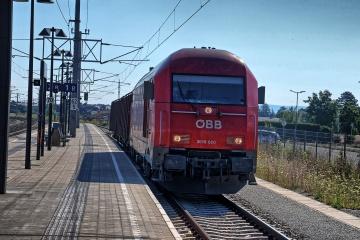 ÖBB 2016 bei Verschubsarbeiten im Bahnhofsbereich von Neunkirchen
