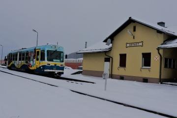 Citybahn Waidhofen im Endbahnhof Gstadt