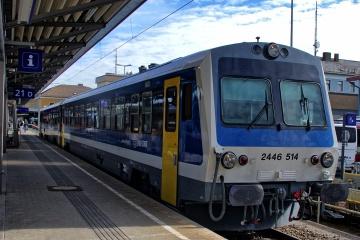 GySEV 2446 im Hauptbahnhof Wiener Neustadt