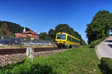 GySEV 247 im Bahnhof Bad Sauerbrunn