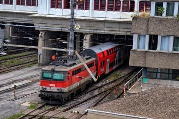 ÖBB 1142 abgestellt in der Verkehrstation Wien Spittelau